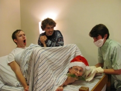 Christmas photos - My friends took a funny Christmas photo.
