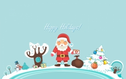 Christmas Wallpaper - Santa claus happy holidays