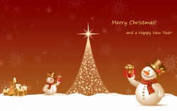 Christmas Wallpaper - Snowman new year-1440x900