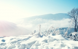 Photograph Wallpaper - Snow winter mountains