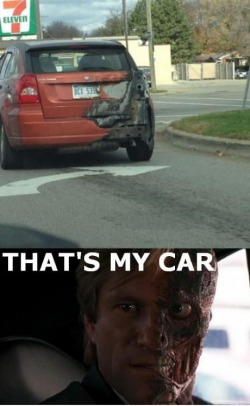 Funny photos - That's my car