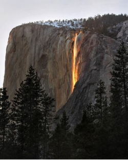Aerial photos - Yosemite Firefall