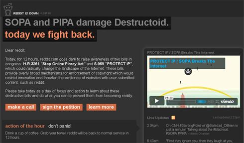 Stop SOPA & PIPA - Reddit
