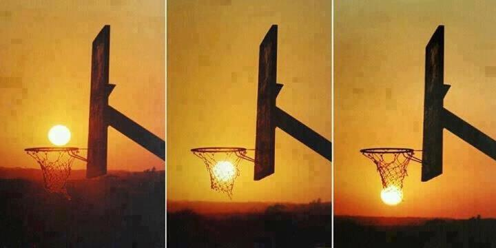 Sun with Basketball