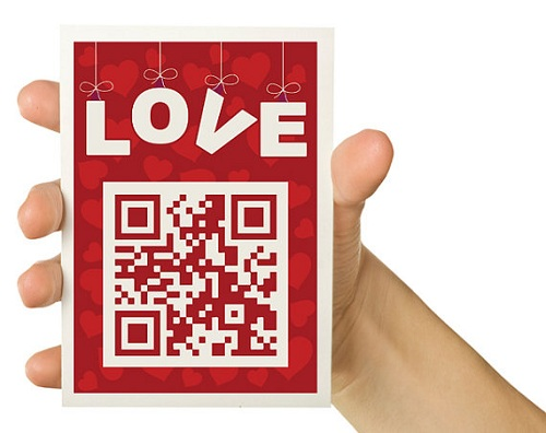 Valentines card with secret QR code
