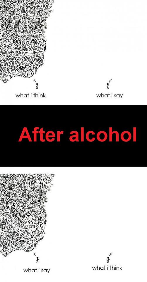 Before and after alcohol