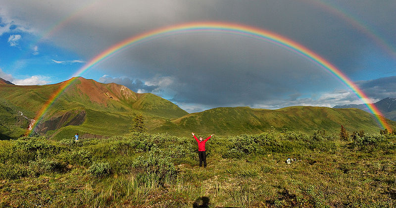 Double rainbow - Alaska