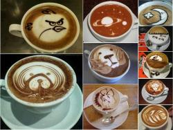 Miscellaneous pictures - Art in coffee