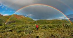 Country photos - Double rainbow - Alaska