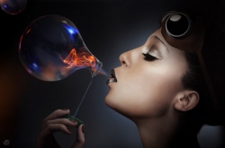 3D and Digital art Wallpaper - Blow bubbles