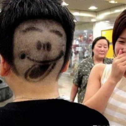 Funny photos - Hair with smile
