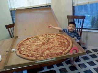 Super big pizza