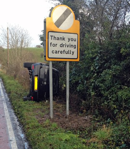 Thanks for driving carefully