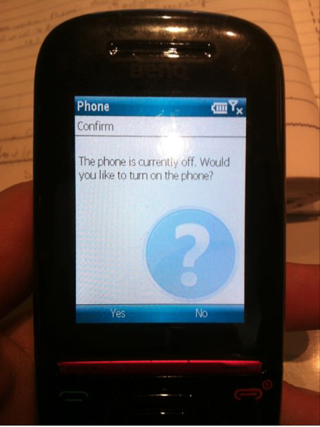 Go home phone - you are drunk.