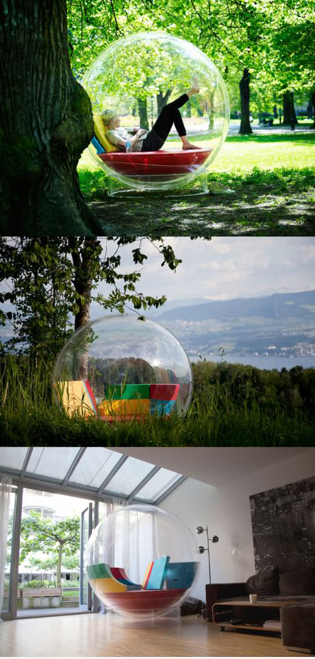 Relaxing in your own bubble. Its called Cocoon 1.