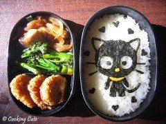 Funny photos - Cat lunch