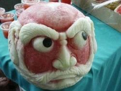 Funny photos - Watermelon Head