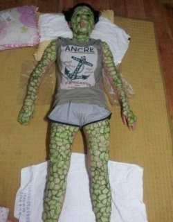 Funny Wallpaper - Cucumber mask