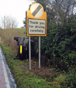 Funny photos - Thanks for driving carefully