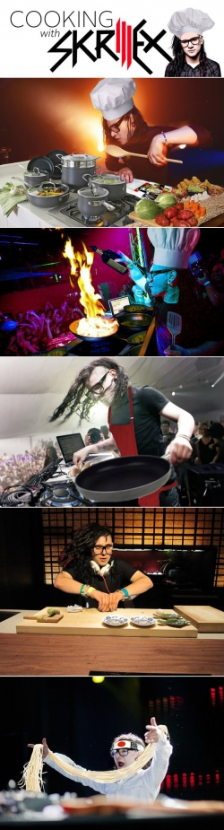 Funny photos - Cooking with Skrillex
