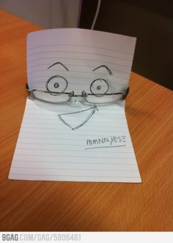 Miscellaneous pictures - How I left a friends Glasses on the desk for him to find