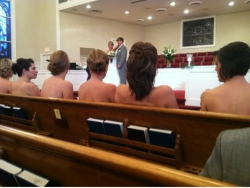 Funny photos - I was at a wedding with nude bridesmaids
