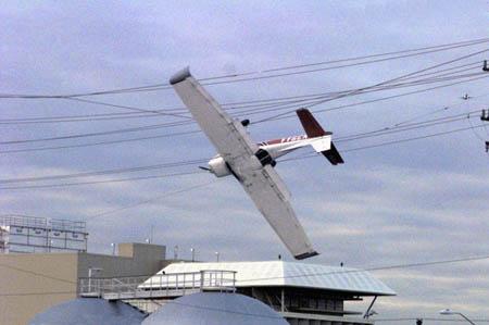 The plane were stuck