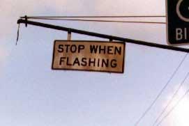 Stop when flashing