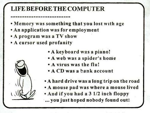 Before the computer