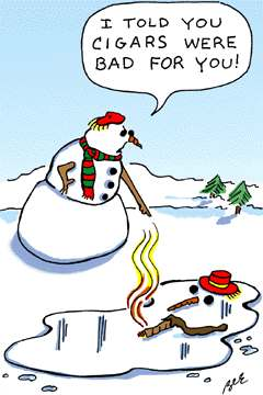 Funny photos - Cigar for snow man