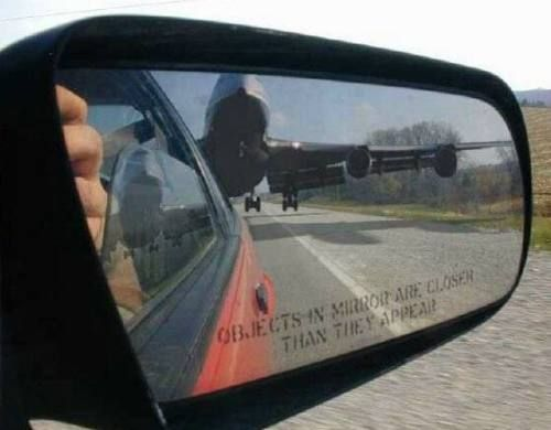 Objects in mirror