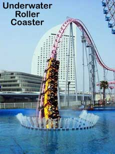 Funny photos - Underwater roller coaster