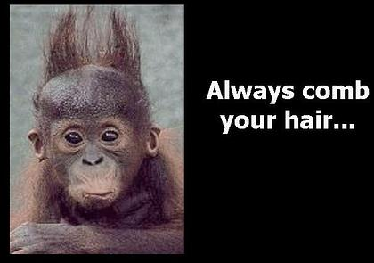 Always comb your hair