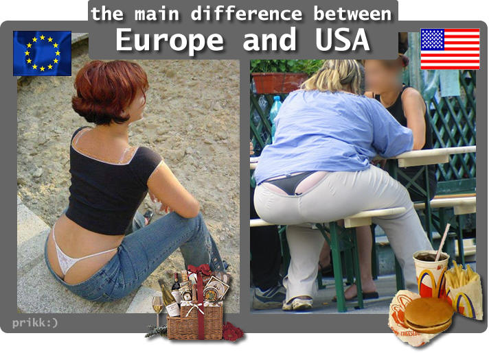 The difference between Europe and USA