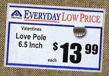 Valentines love pole
