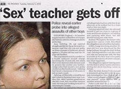Sex teacher gets off