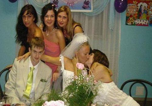 Bride and bridemaid