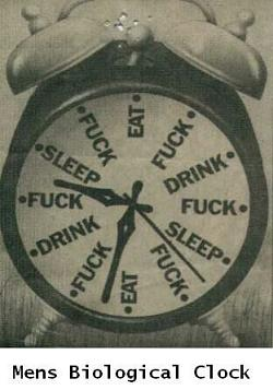 Funny photos - Men's biological clock