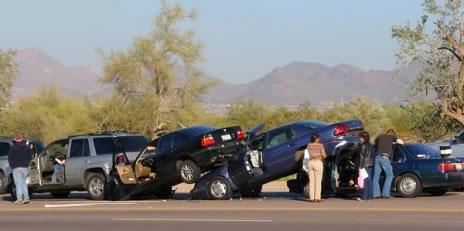 A pile of car