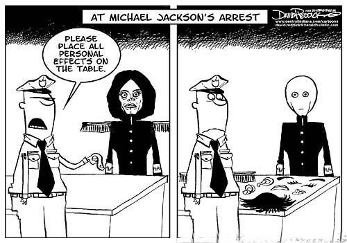 At Michael Jackson's arrest