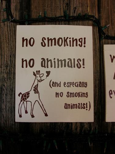 Smoking animals