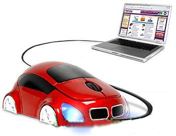 Computer mouse for racer