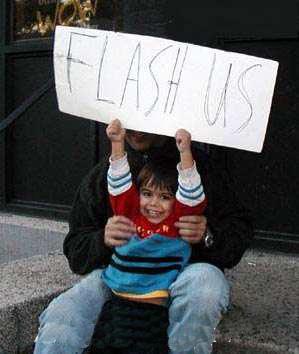 Flash us