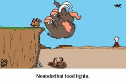 War photos - Neanderthal food fights
