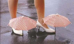 Funny photos - Umbrella for shoe