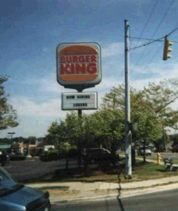 Funny photos - Burger King