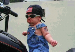 Baby pictures - Future gangster