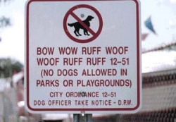 Funny photos - No dogs allowed