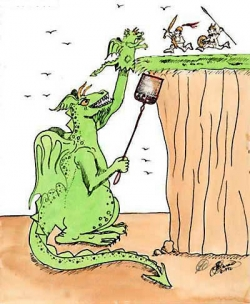 Funny photos - Dragon's bait