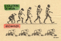 Funny photos - Evolution of man and woman